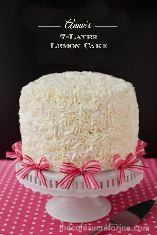 Annie's 7-Layer Lemon Cake - a delicious celebration cake with a fun decorating technique, much easier than it looks!