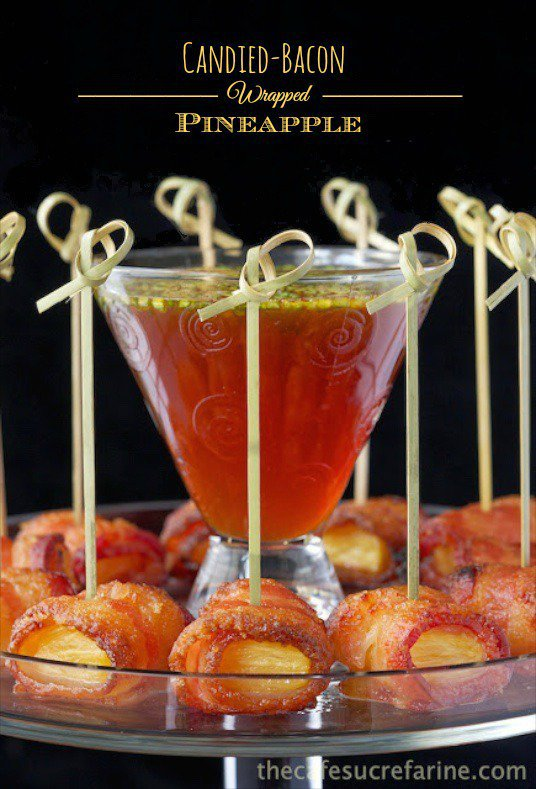 Candied Bacon Wrapped Pineapple - this is crazy good, probably the most delicious, addictive appetizer we've ever had!
