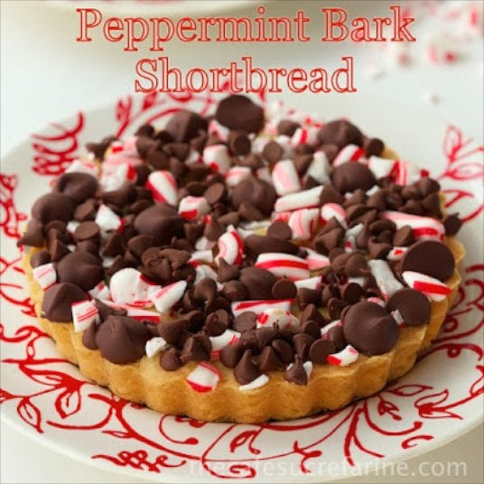 Peppermint Bark Shortbread - delicious, festive and addictive!
