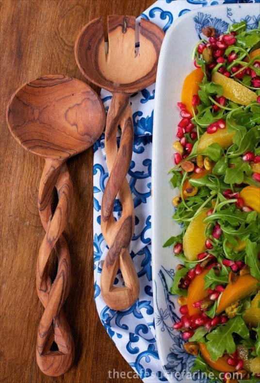 Orange, Pomegranate and Roasted Beet Salad - a visual stunner at the table! Full of a wonderful combination of super healthy components.