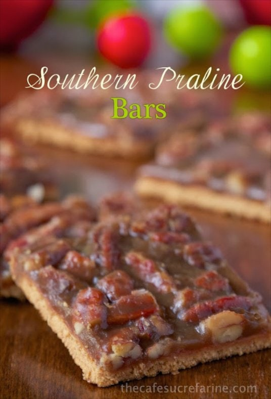 Southern Praline Bars - a super easy, super quick (but incredibly delicious) recipe that would make anyone (Southern or not!) smile and smack their lips!