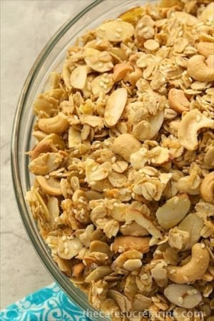 Cashew Coconut Granola - A delicious and healthy snack for anytime of the day.