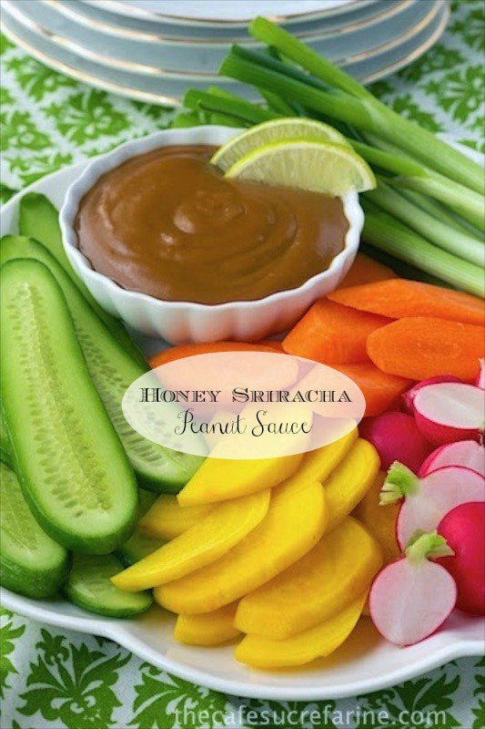Honey Sriracha Peanut Sauce - it's full of flavor and a healthy alternative to heavy, rich dipping sauces. It's also super versatile.