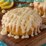 Lemon & White Chocolate Scones w/ Lemon-Cream Cheese Drizzle
