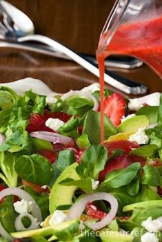 Citrus, Strawberry and Avocado Salad with Strawberry Poppy Seed Dressing - it's bright, fresh, healthy and beautiful - always a winner!
