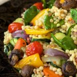 Mediterranean Roasted Vegetable and Pearl Pasta Salad