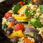 Mediterranean Roasted Vegetable and Pearl Pasta Salad