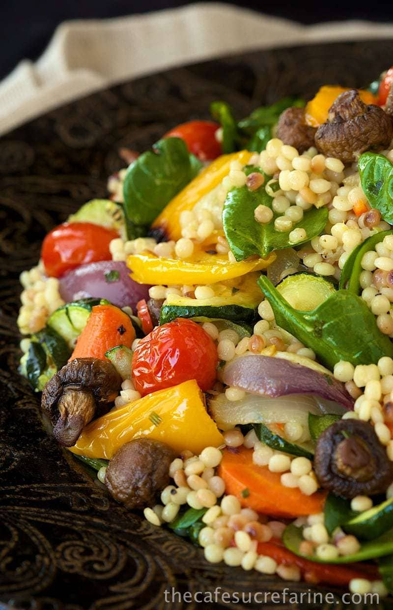 recipe: israeli couscous salad with roasted vegetables [36]