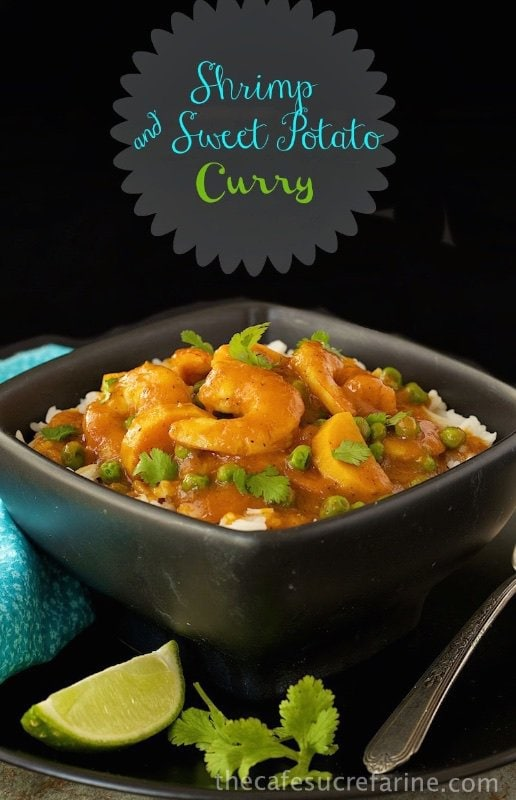 Shrimp and Sweet Potato Coconut Curry - A delicious and healthy Indian-inspired dish with a silky sauce and a delicious combination of herbs and spices.