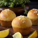 Lemon Thyme Brioche Dinner Rolls