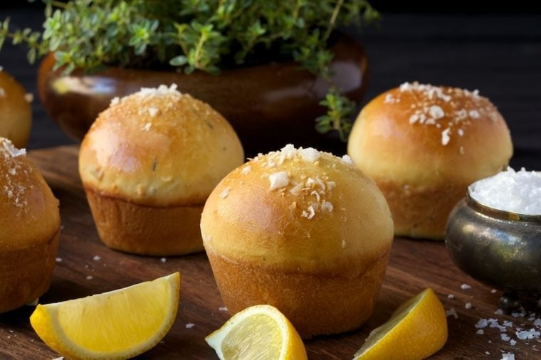 Lemon Thyme Brioche Dinner Rolls