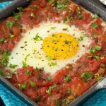 Italian-Style Baked Eggs with Fresh Herb Gremolata