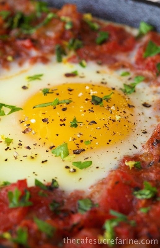 Italian Style Baked Eggs with Herb Gremolata - an Italian-inspired ...
