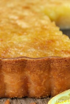 Lemon Chess Pie with Shortbread Crust - an heirloon recipe that's outrageously delicious!
