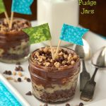Rocky Road Toffee Fudge Jars