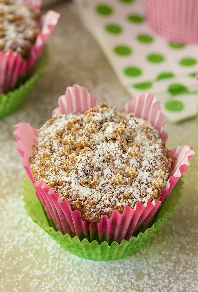 Banana Crumb Muffins with Fresh Pineapple and Coconut