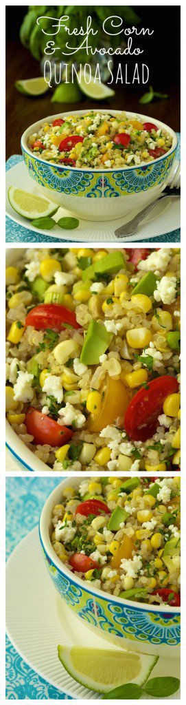 Fresh Corn and Avocado Quinoa Salad -Take one bite and you'll be amazed at the bright, delicious flavor. There's never any left in the bowl!