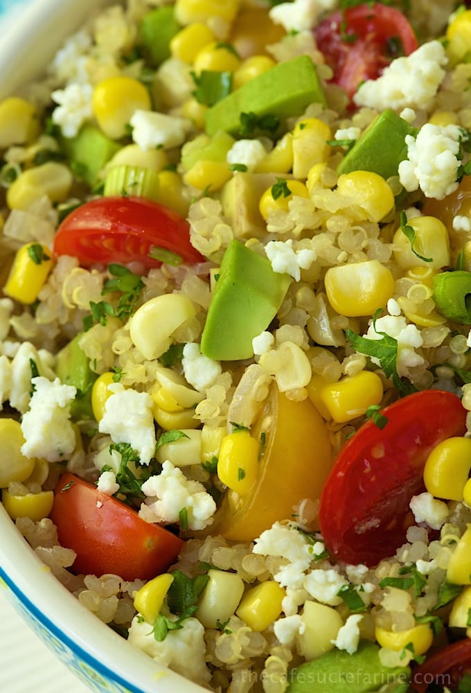 Fresh Corn & Avocado Quinoa, so fresh and delicious. There's never a ...
