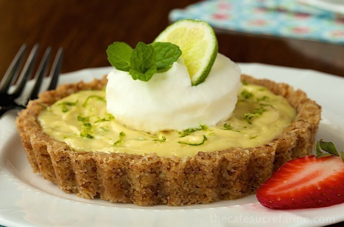 Key Lime Tarts With Coconut Pecan Crust