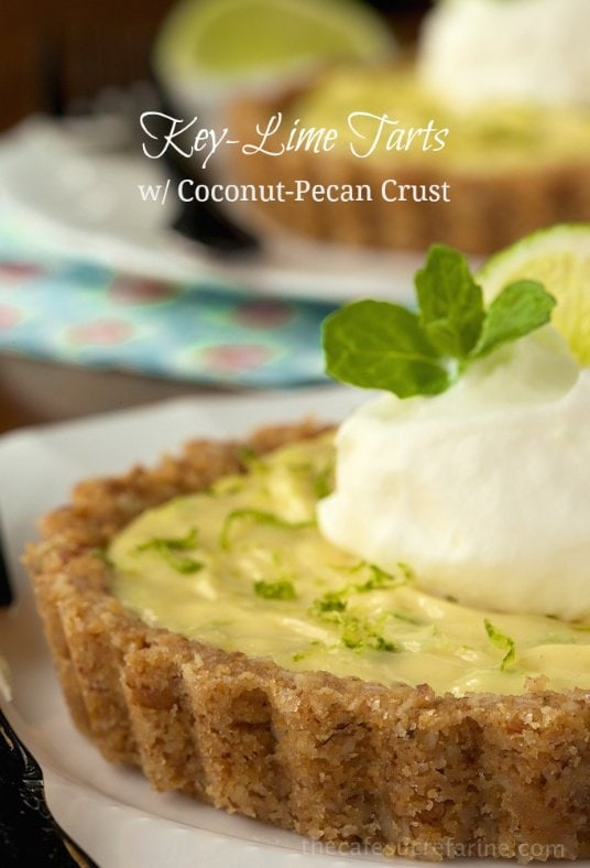 Key Lime Tarts with Coconut Pecan Crust - the perfect dessert for any ...