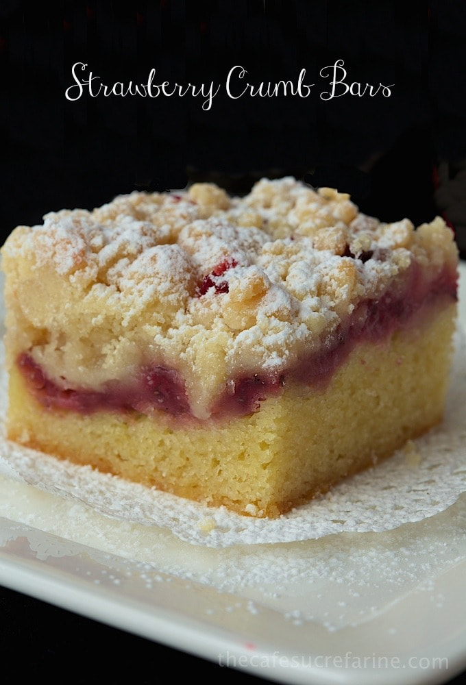 Strawberry Crumb Bars, a delicious dessert or sweet snack anytime