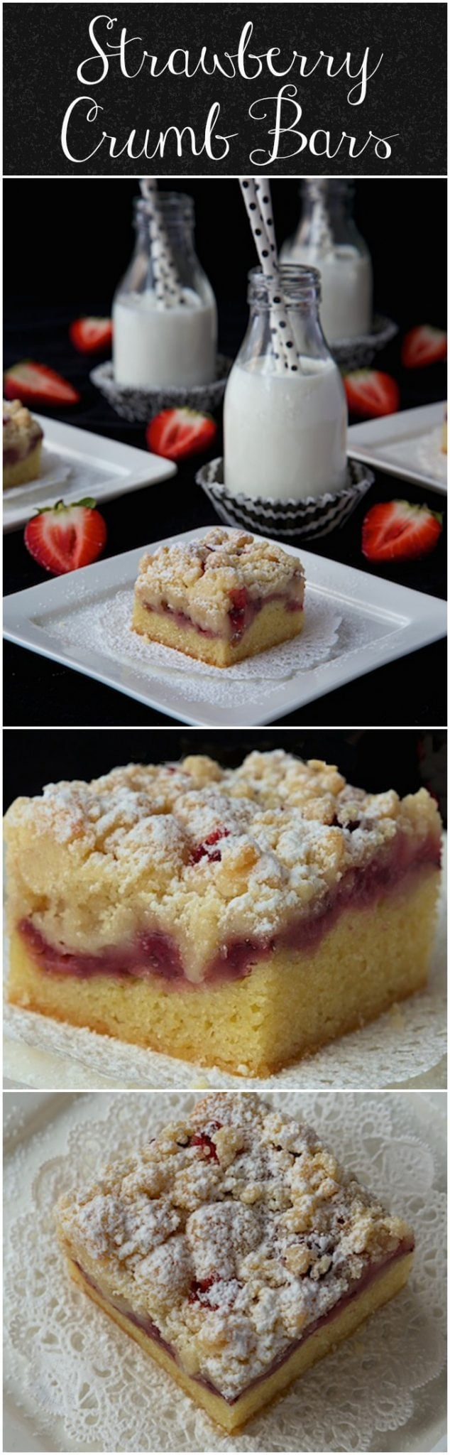 Three layers of deliciousness - a moist, buttery cake base, fresh sweet strawberries and a thick layer of delicious crumbly streusel!
