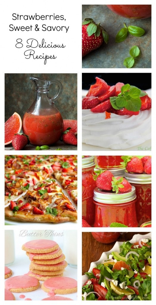 Strawberries - Sweet & Savory; delicious right from the field, strawberries also combine so well with so many ingredients, check out a few of our favorites!