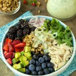 Chicken & Fresh Berry Salad w/ Buttermilk-Herb Dressing - a delightful, summery salad!