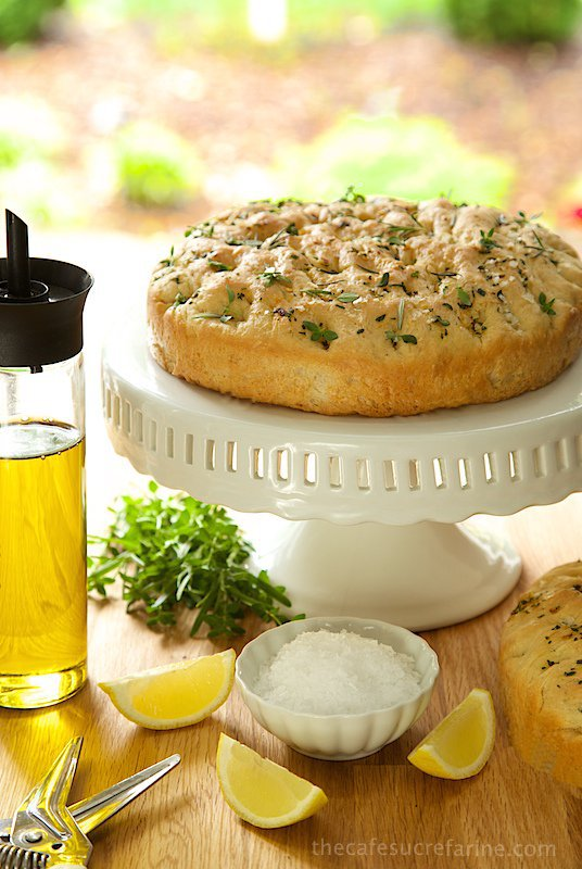Lemon, Rosemary Thyme Foccacia - so perfect for summer picnics and parties