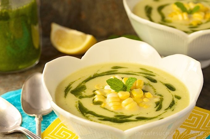 Fresh Corn Bisque - A simple, delicious 5-ingredient soup with lots of fresh corn flavor.