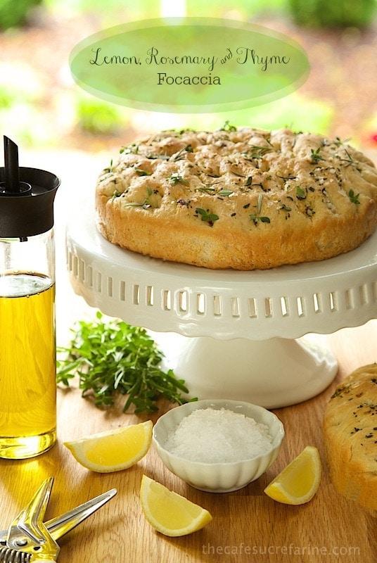 Lemon, Rosemary, Thyme Focaccia