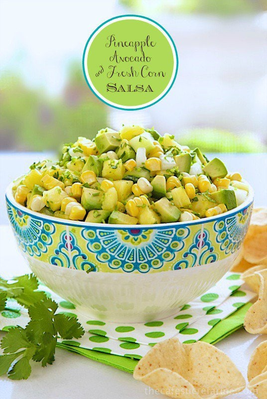 Pineapple, Avocado & Fresh Corn Salsa - Fresh, vibrant and versatile ...
