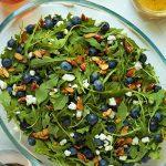 Blueberry Arugula Salad with Honey-Lemon Dressing