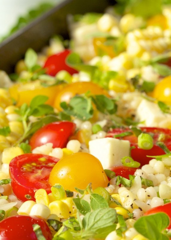Israeli Couscous and Orzo Salad - the essence of summer, in a salad bowl!