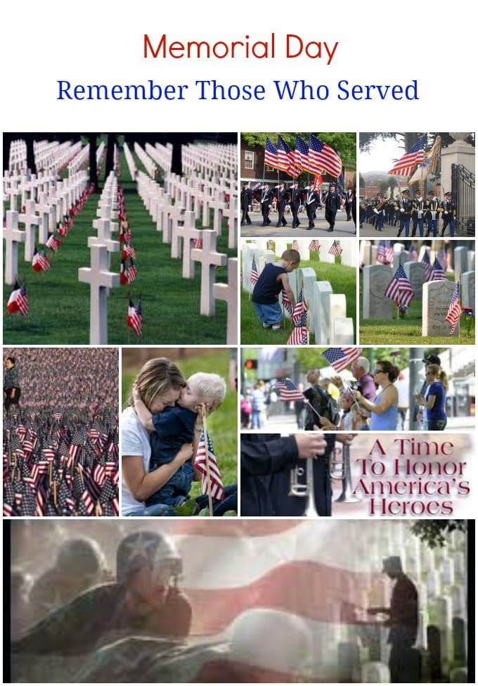 Memorial Day; a day to celebrate and give honor those all those who served and have served in our armed forces