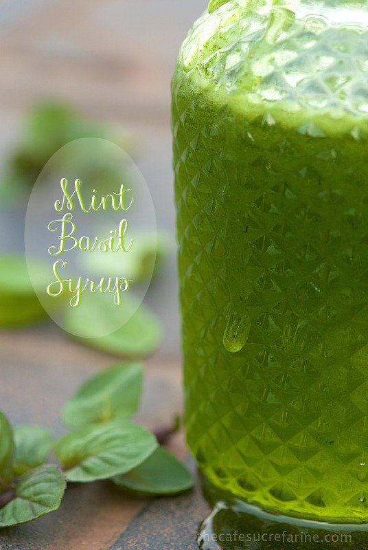 Mint Basil Syrup - a fabulous dessert topping but you need to check out all the other ways to use it!!