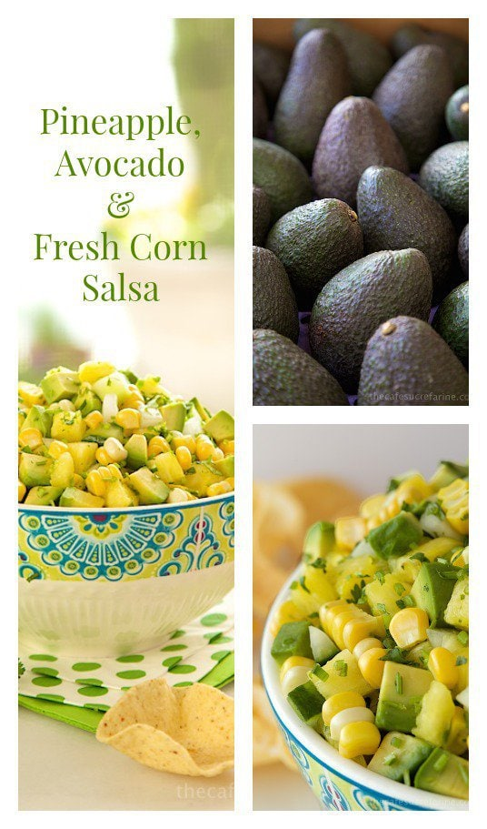 Pineapple, Avocado & Fresh Corn Salsa; vibrant, fresh, versatile and VERY delicious!!