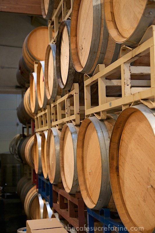 California Coast Road Trip - Part 2 - Claiborne Winery wine casks
