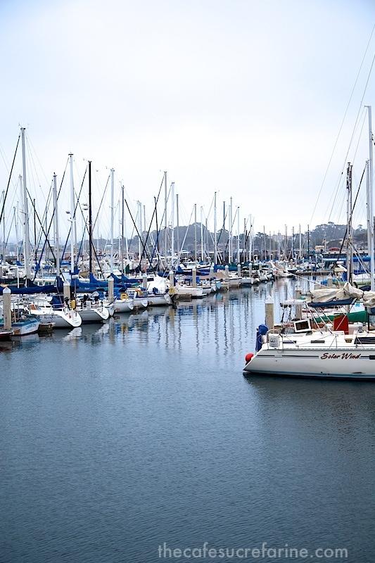 Monterey sailboats in harbor
