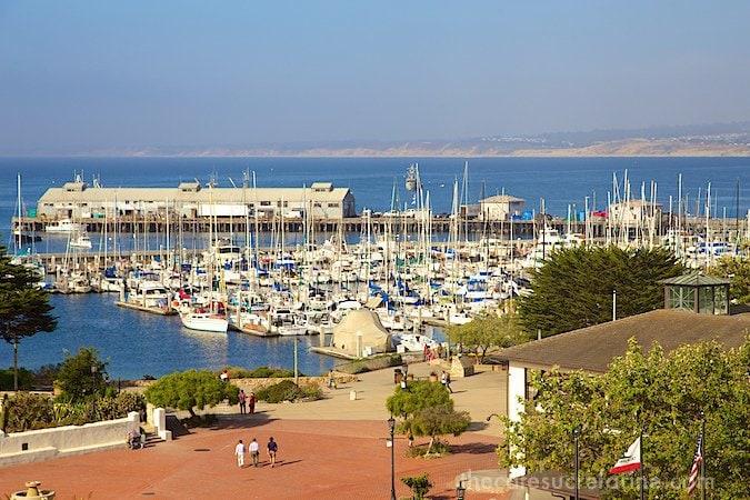 Monterey - view out Portola Hotel window
