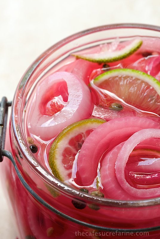 Pickled Red Onions.The most beautiful, delicious condiment! Adds a ...