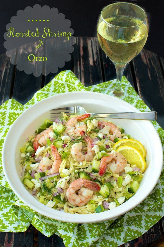 Roasted Shrimp and Orzo. A perfect simple, summer meal!