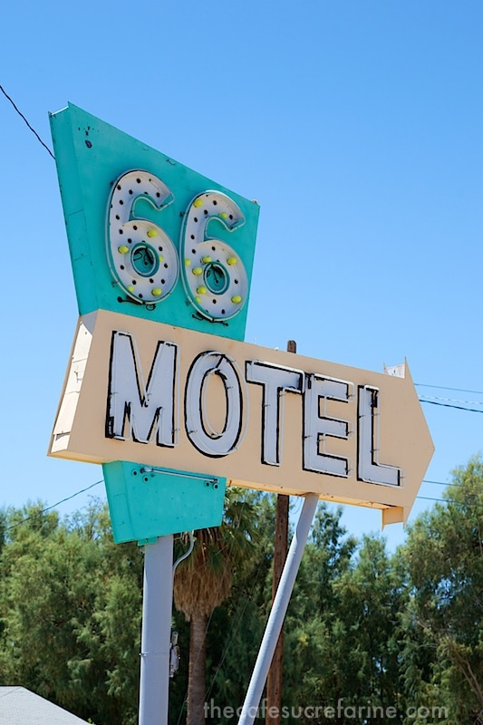 Route 66 Hotel sign