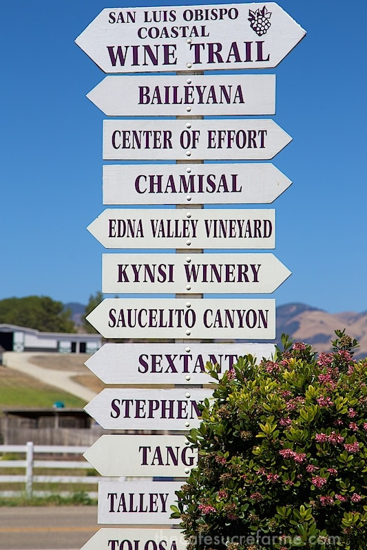 California Coast Road Trip - Part 2 -  SLO Wine Country Signpost