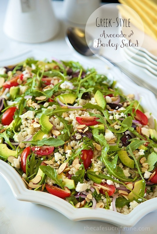 How Avocados Grow. Greek-Style Avocado and Barley Salad. Super delicious and super healthy; the perfect combination!!