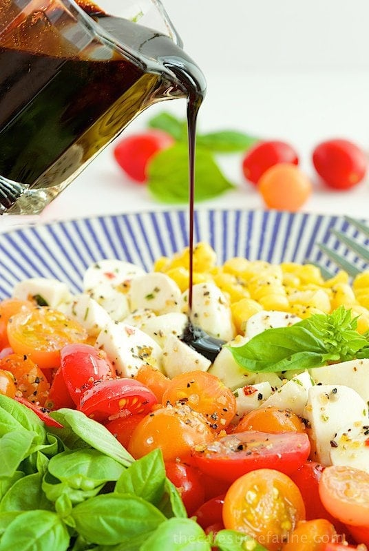 Caprese Salad with Fresh Corn - A fabulous salad that just seems to scream SUMMER!