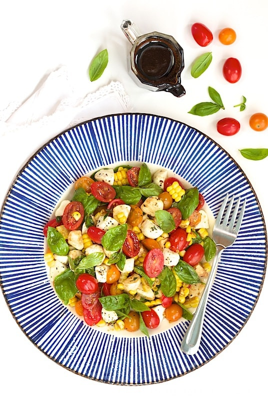 Caprese Salad with Fresh Corn - A fabulous salad that just seems to ...