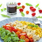 Caprese Salad with Fresh Corn