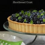 Lemon Berry Tart with Shortbread Crust. A delicious fresh berry topped no-bake lemon cheese cake in a crisp, buttery shortbread crust.