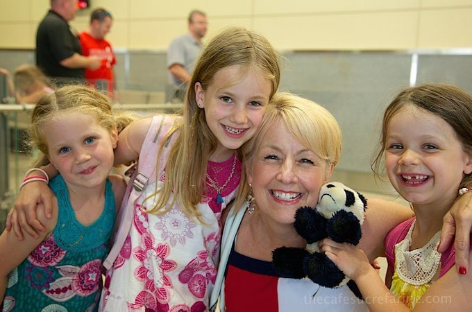 Raspberry Melt-Aways - Grammy and her girls at the airport.